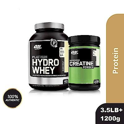 [美國 ON]白金級HYDRO水解分離乳清蛋白(3.5磅)+肌酸1200公克