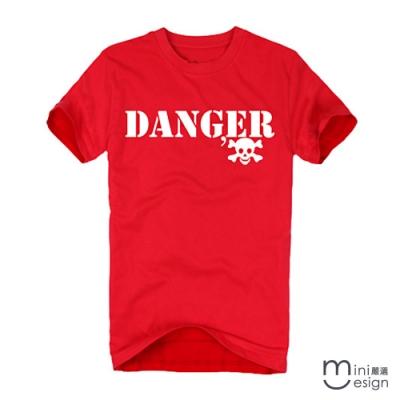 (男款)DANGER骷髏潮流設計短T 三色-Minidesign