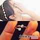 【3件5折】AnnaSofia 轉運交叉迷你裸鑽 開口戒指(金系) product thumbnail 1