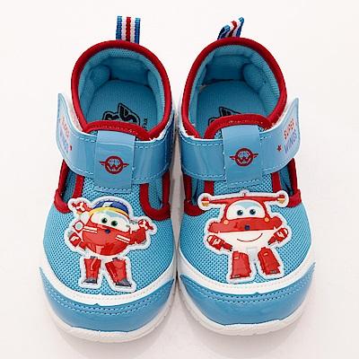 SUPER WINGS 超輕量休閒鞋款 EI3017紅藍(中小童段)