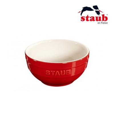 法國Staub 圓型陶瓷碗12cm  櫻桃紅