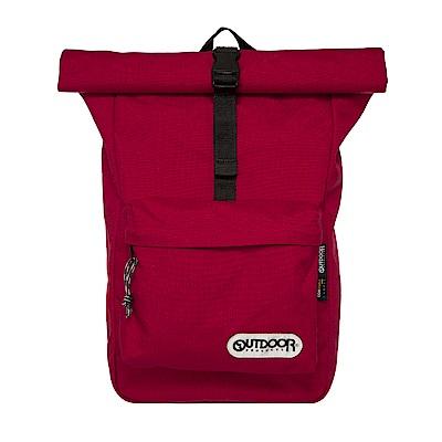 繽紛原色-捲蓋式後背包-酒紅 OD151101RD