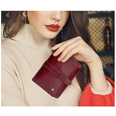 leaper CONTACTS油臘皮女用手拿包錢包 共2色