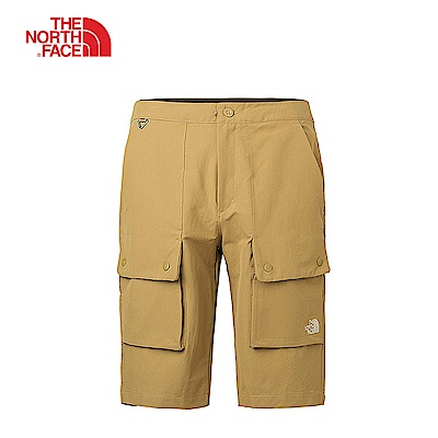 The North Face北面男款卡其色舒適快乾運動短褲|3CJNT5C