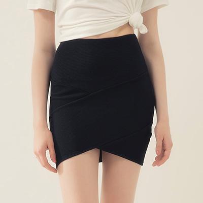 AIR SPACE 性感合身包臀短裙(黑)