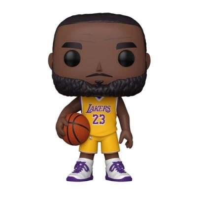 Funko POP NBA 大頭公仔 10吋加大版 湖人隊 LeBron James 黃色