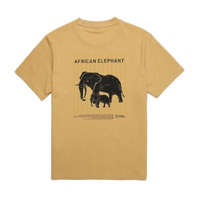 NATIONAL GEOGRAPHIC 中性 ELEPHANT PIGMENT T-SHIRT 短袖T恤 黃-N202UTS160040