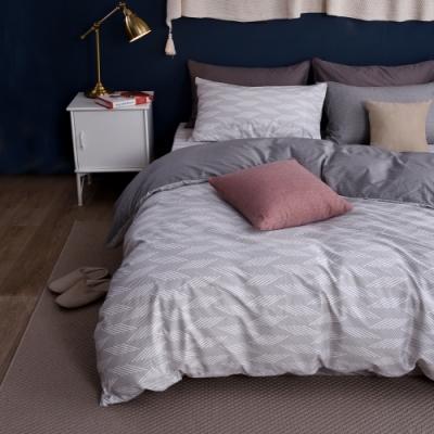 Jumendi喬曼帝 200織精梳純棉-雙人被套+單人床包組-靜謐歲月