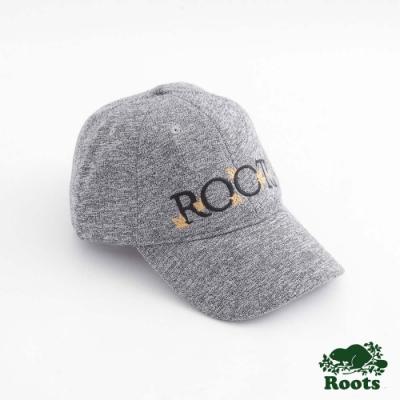 配件Roots- 楓葉刺繡棒球帽-灰色
