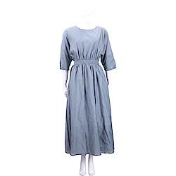 Max Mara-'S Max Mara 極簡設計薄霧藍絲質洋裝