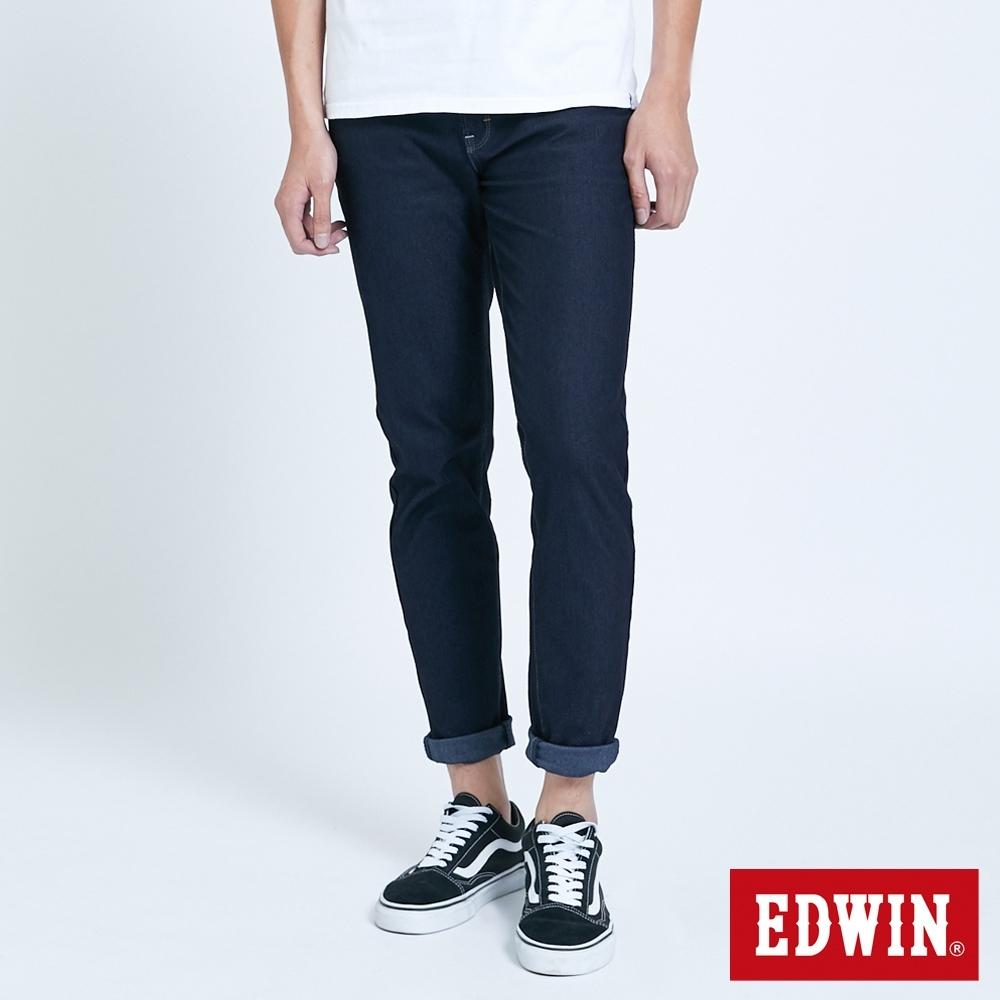 EDWIN JERSEYS 迦績 大尺碼 MED系列 不對稱AB牛仔褲-男-酵洗藍