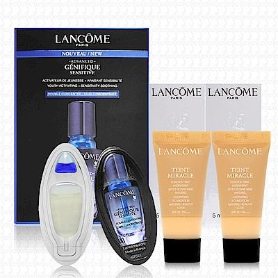 LANCOME蘭蔻 水感奇蹟恆久光粉底5mlx2+超進化肌因活性安瓶4mlx2