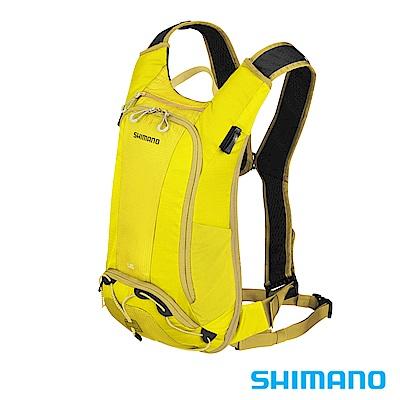 SHIMANO UNZEN 登山車後背包-無水袋6L 橄欖黃