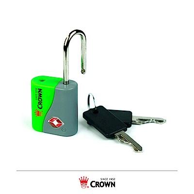 CROWN 皇冠 TSA海關鑰匙鎖 鎖頭掛鎖 綠色