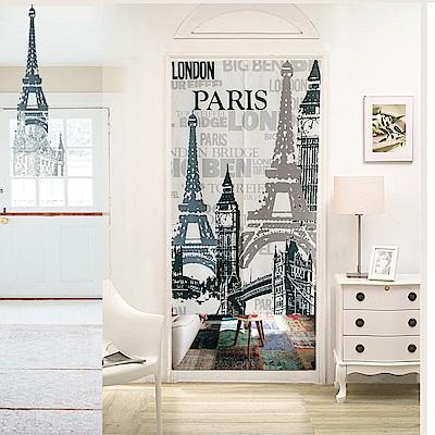 日創優品 日式門簾 看見巴黎城市85×150cm