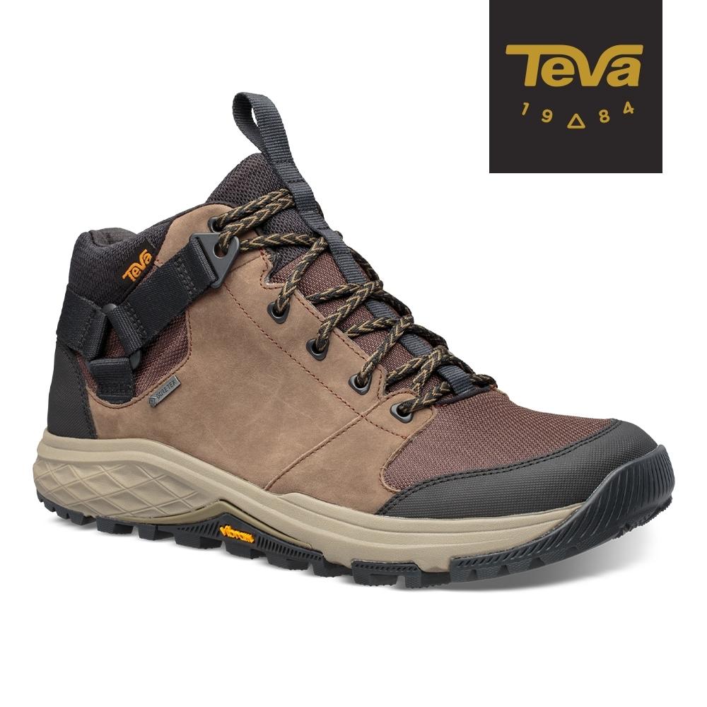 【TEVA】原廠貨 男 Grandview GTX 高筒防水黃金大底郊山鞋/登山鞋(巧克力色-TV1106804CCHP)