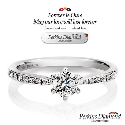 PERKINS 伯金仕 - 夏綠蒂系列 18K金 0.30克拉鑽石戒指