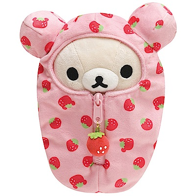 拉拉熊懶熊布偶衣系列睡袋毛絨公仔 (S)。懶妹 San-X