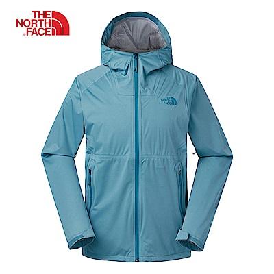 The North Face北面男款藍色防水透氣衝鋒衣|3RKI4Y3
