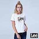 Lee 愛心膠帶設計寬版短袖圓領TEE-白色