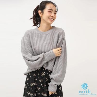 earth music 簡約圓領長袖針織上衣