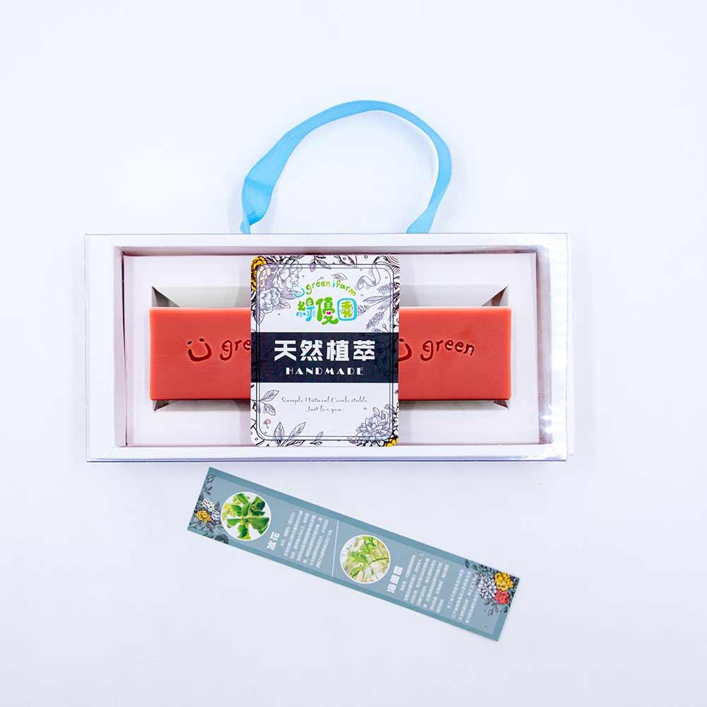 綠優園-天然植萃手工皂潤膚皂-玫瑰草礦泥二入盒裝