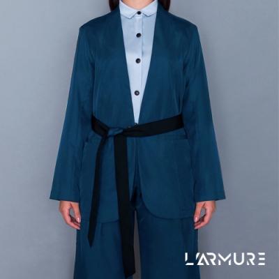 L ARMURE 女裝 Ultra-Light綁帶修身 女士西裝外套 (湛藍色)