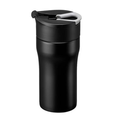 【PO:Selected】丹麥便攜法壓保溫咖啡杯12oz(黑)