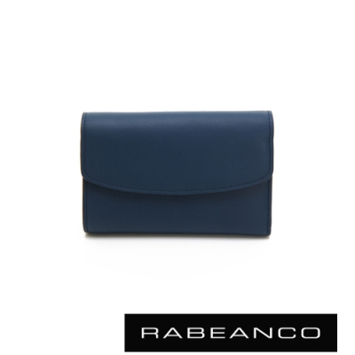 RABEANCO 歐式經典撞色拉鍊中夾 深藍