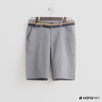 Hang Ten - 男裝 - 帆布腰帶造型西裝短褲-灰
