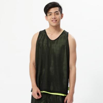 【V-TEAM】男款雙面穿吸排籃球背心-黑