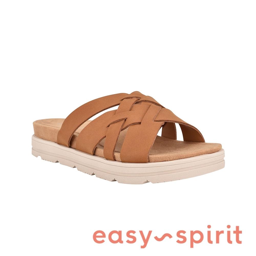Easy Spirit-seSTAR3 編織厚底休閒拖鞋-咖啡