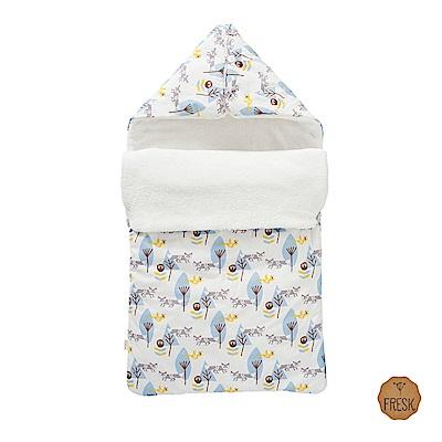 荷蘭 FRESK 嬰幼兒有機棉保暖睡袋 (藍色小狐狸)