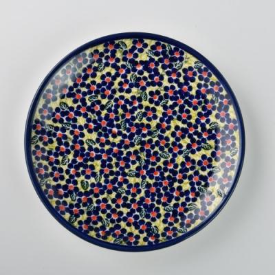 波蘭陶 山花爛漫系列 淺底圓形餐盤 19cm 波蘭手工製