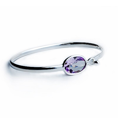 Georg Jensen SAVANNAH 紫水晶+純銀手環