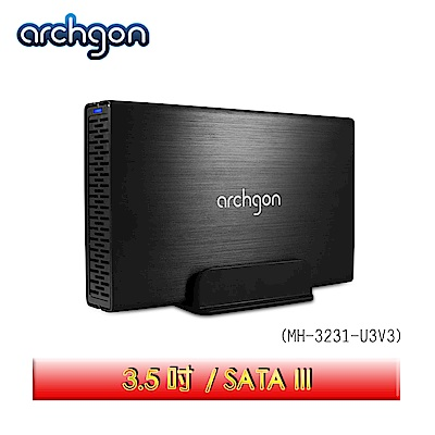archgon亞齊慷 USB <b>3</b>.<b>0</b> <b>3</b>.<b>5</b>吋SATA硬碟外接盒 MH-3231-U3V3