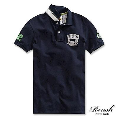 Roush STATE68美式貼布水洗POLO衫(3色)