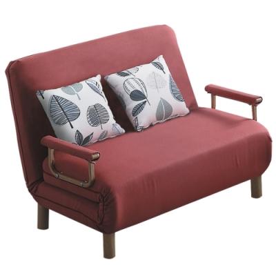 文創集 圖尼亞 現代咖棉麻布單人機能沙發/沙發床(拉合式沙發/沙發床二用設計)-96x202x28cm免組