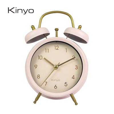 KINYO經典復古金屬鬧鐘(粉)ACK7109PI