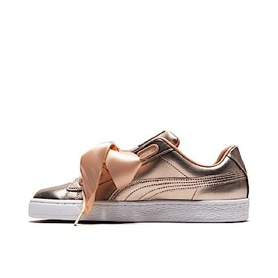 PUMA-BasketHeartLuxe女性復古籃球運動鞋-霧珊瑚