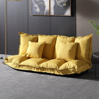 MUNA 968#黃色多段式和室沙發椅/沙發床 160X75X55cm