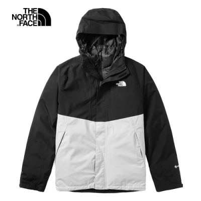 The North Face北面男款黑色防水保暖戶外三合一外套 3VSH5PZ