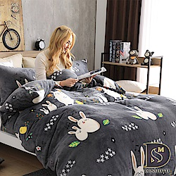 DESMOND岱思夢 單人_法蘭絨床包兩用毯被套三件組 美妙旋律