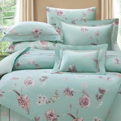岱思夢   雙人 60支天絲兩用被床包組    貝茉莉-綠