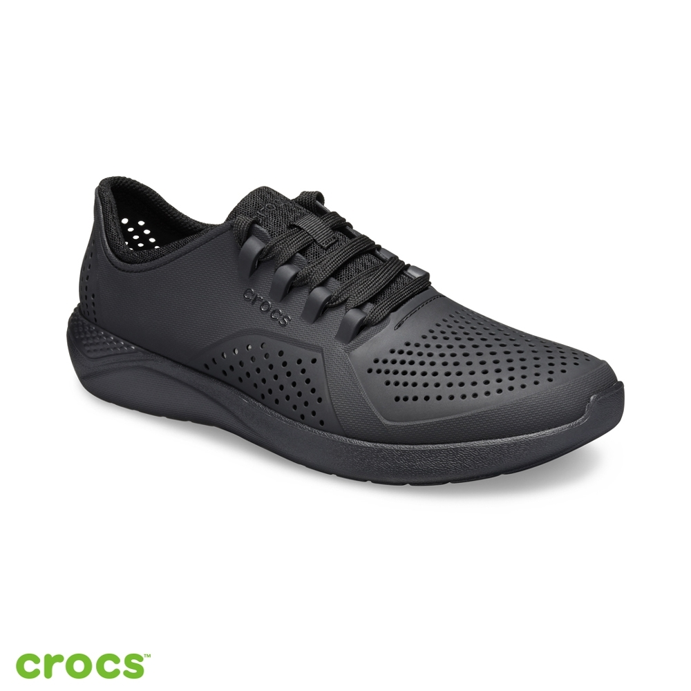 Crocs 卡駱馳 (男鞋) LiteRide徒步繫帶鞋 204967-060