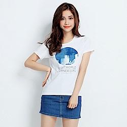 101原創 城市角落短袖T恤上衣-白