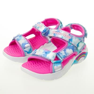 SKECHERS 女童涼拖鞋系列 燈鞋 RAINBOW RACER SANDALS - 302975LBLU