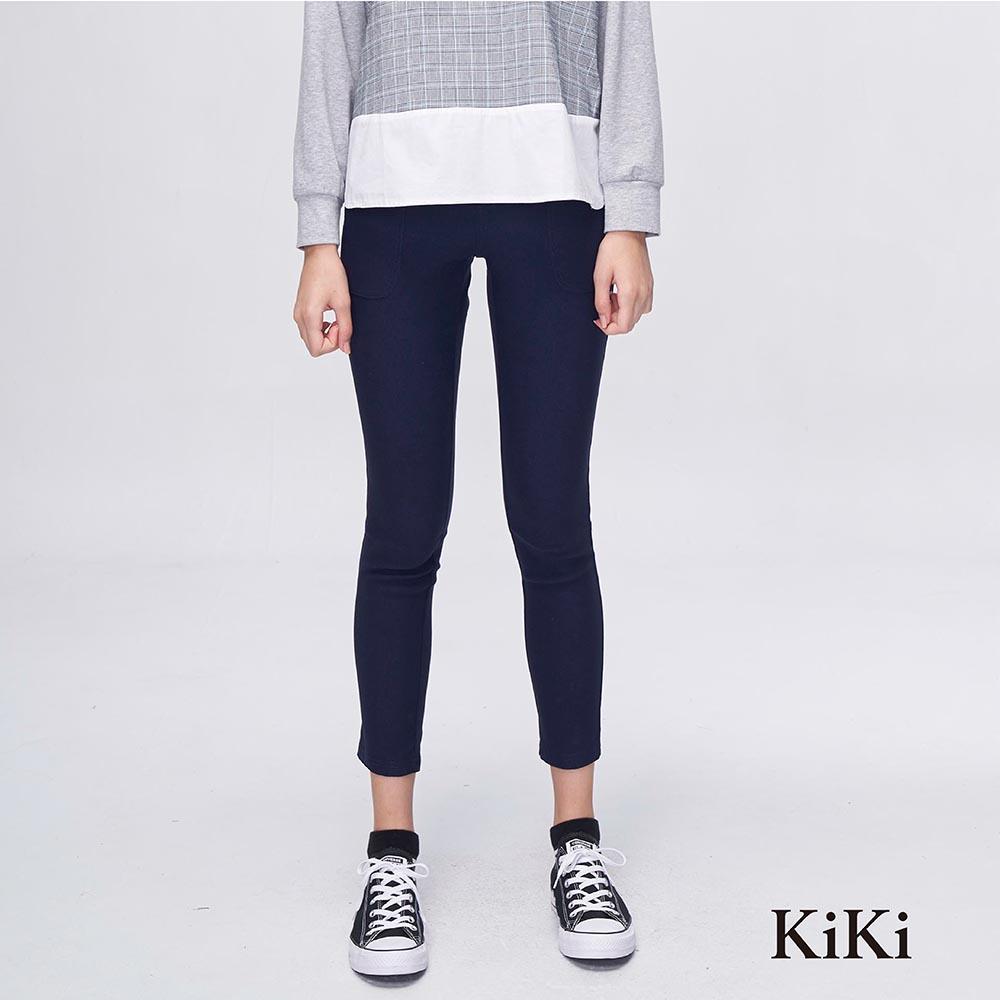 【KiKi】簡約修身-長褲(共二色)
