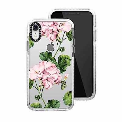 Casetify iPhone XR 耐衝擊保護殼-天竺葵