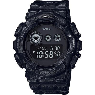 G-SHOCK 大錶徑經典三眼數位顯示窗格男錶-全黑(GD-120BT-1D)/51mm